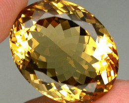 Clean 20.67 ct. 100% Natural Top Yellow Golden Citrine Brazil