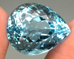 Clean Gem 28.58 ct. 100% Natural Top Sky Blue Topaz Brazil