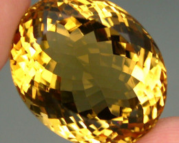 Clean ! 32.68 ct. 100% Natural Unheated Top Yellow Golden Citrine Brazil