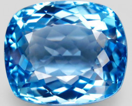 36.42 ct. Natural Swiss Blue Topaz Top Quality Gemstone Brazil
