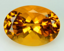~FLAWLESS~ 7.33 Ct Natural Golden Orange Citrine 16x12 mm Oval Brazil