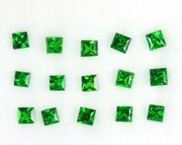 ~PRINCESS~ 1.00 Cts Natural Vivid Green Tsavorite Garnet 15 Pcs Kenya