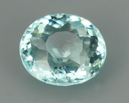 1.65 CTS NATURAL UNHEAT GENUINE LUSTROUS NICE AQUAMARINE GEM!