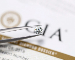 GIA 0.32Ct D VVS2 3Excellent ROUND BRILLIANT Natural Diamond