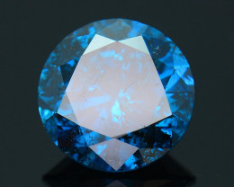 AIG~Cert~1.02 ct Natural Blue Diamond~
