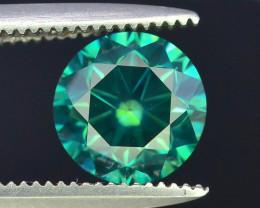AIG~Cert~1.27 ct Natural Ocean Green Diamond~$8000,00