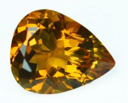 Natural Golden Orange Citrine Pear Cut Brazil 5.63 Cts