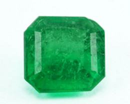 Natural Vivid Green Emerald Octagon Cut Colombia 0.45 Cts