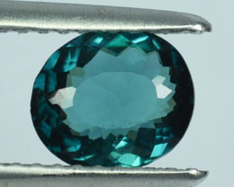 Natural Indicolite Blue Tourmaline Oval Cut Mozambique 0.85 Cts