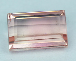 Natural Nice Orangish Pink Tourmaline Baguette Cut Mozambique 1.39 Cts