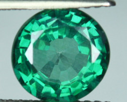 Sparkly Green Natural Topaz 8 mm Round Cut Brazil 2.78 Cts