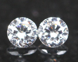 2.30mm D/F Color VS Natural Round Brilliant Cut White Diamond