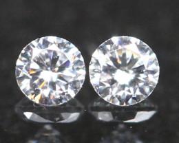 2.90mm G/H Color VVS Natural Loose White Diamond