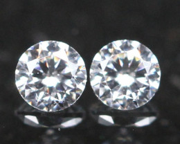 1.90mm G/H Color VVS Natural Loose White Diamond