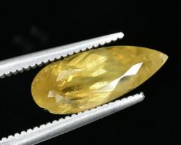 2.16 Crt Rare Malayaite Sphene Faceted Gemstone.( AG 18)