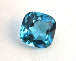 6.03 Carat Cushion Cut Swiss Blue Topaz