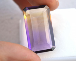 20.95 Carat Long, Thin Octagon Cut Ametrine