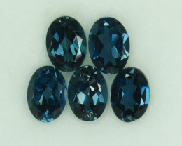 Mind Blowing 5.23Ct Cts Natural London Blue Topaz Oval Parcel