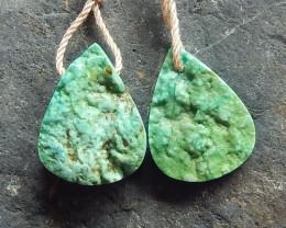 Natural Turquoise ,Handmade Gemstone ,Turquoise Earrings ,Lucky Stone B766