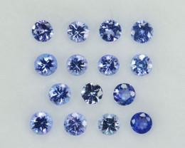 1.96 Cts Natural Blue Tanzanite Round Parcel Tanzania