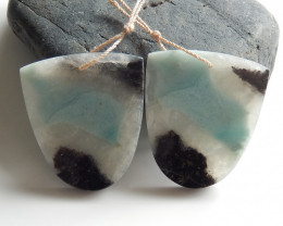 Hot !! Handmade Earrings ,Gemstone Earrings ,Natural Amazonite Earrings B77