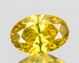 0.12 Cts Natural Golden Yellow Diamond Oval Cut Africa