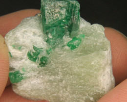 Natural Green SWAT emerald Specimen From Pakistan