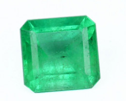 0.39 Cts Natural Green Emerald Octagon Colombian