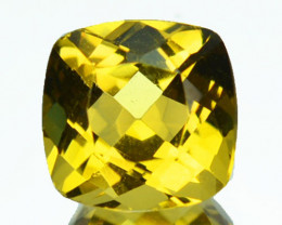 ~FABULOUS~ 1.23 Cts Natural Golden Heliodor Beryl Cushion Brazil