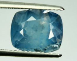 3.94 Cts Natural Blue Apatite Heated Cushion Brazil