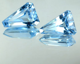 5.93 Cts Natural Baby Blue Topaz Fancy Cut Pair Irradiated