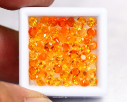 Fire Opal 6.16Ct Natural VS Mexican Fire Opal Round Cut Lot  B1908