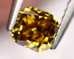0.18Ct Untreated VS Fancy Greenish Brown Orange Color Diamond B1910