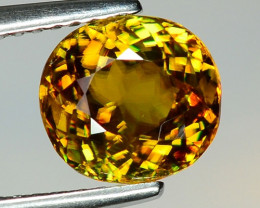 2.58 CT SPHENE WITH DRAMATIC FIRE GEMSTONE SP22
