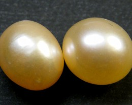 PAIR HIGH LUSTRE QUALITY FRESH WATER PEARL 8.30 CTS SG 1241