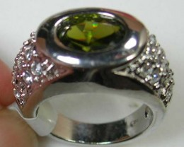 18K WHITE GOLD PLATE FASHION RING