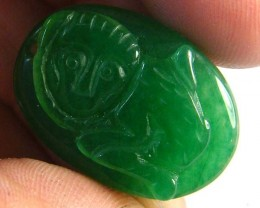 SMALL GREEN  CARVINGS 19CTS SGS942