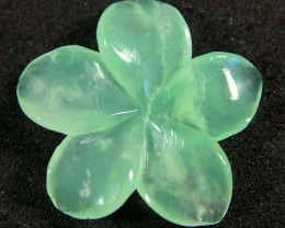 CHRYSOPRASE FLOWER CARVING 5 CTS   FN 3500 (LO-GR)