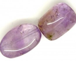 AMETHYST BEAD NATURAL 2 PCS 29.2 CTS  NP-1582