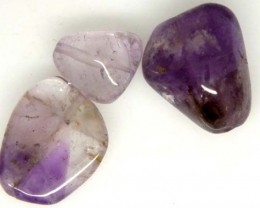 AMETHYST BEAD NATURAL 3 PCS 28.2 CTS NP-1374