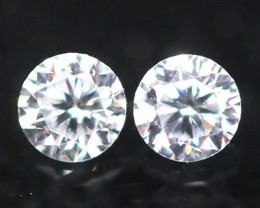 1.80mm G Color VS Clarity Natural Round Brilliant Cut Diamond Pair