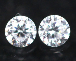 1.60mm G Color VS Clarity Natural Round Brilliant Cut Diamond Pair
