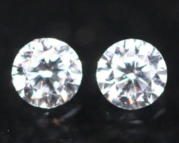 1.70mm G Color VS Clarity Natural Round Brilliant Cut Diamond Pair