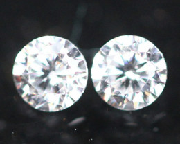 1.90mm G Color VS Clarity Natural Round Brilliant Cut Diamond Pair