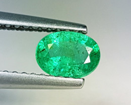 """0.65 ct """" Exclusive Gem """"  Oval Cut AAA  Green  Natural Emerald"""