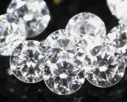 1.30mm D/F/VS 8Pcs Natural Loose White Diamond
