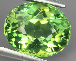 AWESOME 6.10 CTS AMAZING NATURAL RARE LUSTROUS GREEN APATITE NR!!