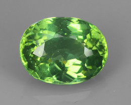 AWESOME 3.90 CTS AMAZING NATURAL RARE LUSTROUS GREEN APATITE NR!!