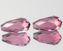 1.51 Cts Glittering Natural Pink Tourmaline Briolette Pair