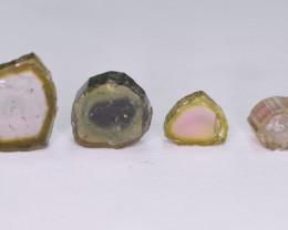10 Carats Polished  Tourmaline Slices Parcel